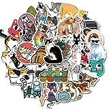 BLOUR 50 unids Dibujos Animados Gatos Lindos Pegatinas Decorativas DIY Maleta con Ruedas Estilo explosión Graffiti papelería Pegatinas niños Regalos