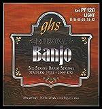 GHS PF120 Ensemble de 6 cordes Banjo Light