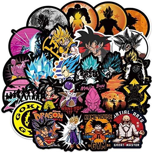 100PCS Dragon Ball Z Aufkleber, wasserdichte Anime Aufkleber für Wasserflaschen Abnehmbare Vinyl...