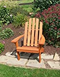 Cedar Wood Adirondack Chair, Amish Made Outdoor Chairs, Weather Resistant Wooden Patio Deck and Porch Outside Furniture, Modern, Casual & Rustic Style Choices (Kennebunkport Redwood)