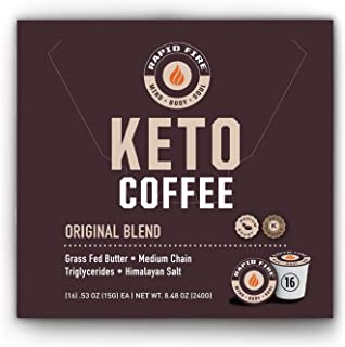 Rapidfire Rapid Fire Ketogenic High Performance Keto Coffee Pods, Supports Energy and..