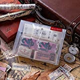 BLOUR 400 unids/Set Retro Time Ticket Sticker Collection Vintage Travel Planificador Diario Álbum de Fotos Scrapbooking Papel Pegatinas Papelería