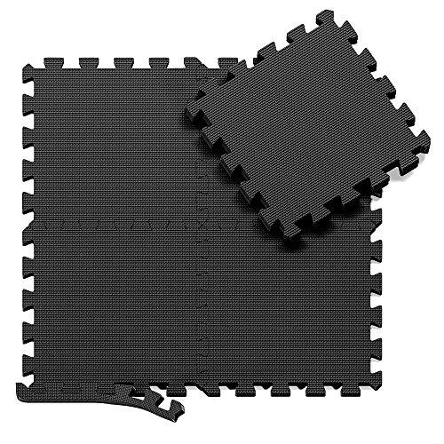 Tappeto da fitness a puzzle set di 18 pezzi | superficie di protezione per pavimenti | materassino...