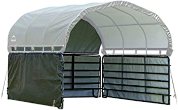 ShelterLogic 12' x 12' Equine, Livestock, and Agricultural Corral Shelter Shade..