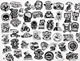 50Pcs Funniest Bumper Stickers Badass Decals Motorcycle Helmet Hardhat Accessory for Construction Workers Union Plumber Foreman