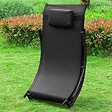 Sonnenliege klappbar Gartenliege Relaxstuhl Liegestuhl mit Kopfkissen Klappliege - 4