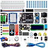 Smraza Super Starter Kit Project Kit with Breadboard, Power Supply, Jumper Wires, Resistors, LED, LCD 1602, Sensors, Detailed Tutorial for Project, Compatible with Arduino
