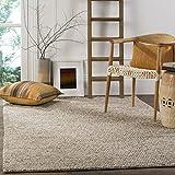 Safavieh Natura Collection NAT620B Handmade Premium Wool Area Rug, 9' x 12', Beige