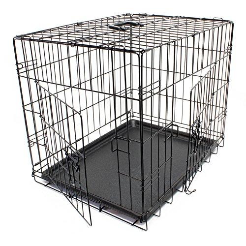 WilTec Cage de Transport Pliable en Fil métallique Petits Animaux Caisse de Transport métallique Taille XS