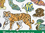 Melissa & Doug- Jumbo Animal Blocco da Colorare, Multicolore, 4200