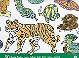 Melissa & Doug- Jumbo Animal Blocco da Colorare, Multicolore, 4200