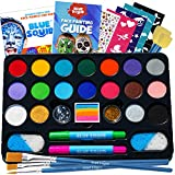 Face Paint Kit for Kids – Blue Squid Ultimate Face Painting Kit, 22...