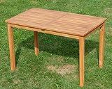 ASS Echt Teak Holztisch 120x70cm Gartenmöbel Gartentisch Garten Tisch Holz sehr robust Alpen - 5