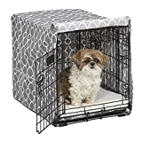 Dog crate cover provides the privacy, security & comfort that dog's instinctual need & desire as recommended by veterinarians, breeders & trainers Metal dog crate cover measures 24L X 18W X 19H inches & is specifically designed to fit the iCrate (152...