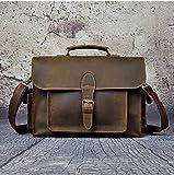 JKHGKG Negocio de artículos de Cuero diseñador de los Hombres de maletín portátil Paquete de Archivos de Ordenador de 13 Pulgadas Shangwu Guan Bolsa combinación Hombro