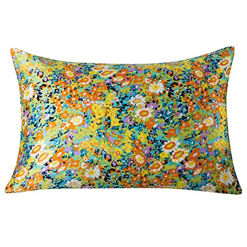 SLPBABY Silk Pillowcase for Hair and Skin with Hidden Zipper Print (Queen, Pattern14)