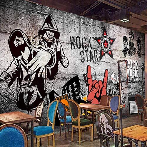 PatTheHook Murale,Custom 3D Grande Murale Rock Hip-Hop Affresco Arte Moderna TV Sfondo Salotto...