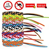 Mosquito Repellent Leather Braided Bracelets. Citronella Wristbands Protect from Insect, Bug, Pest. All Natural Material, Deet-Free. Sport Bands Design Outdoor Activities. (12 PC, One Size Fits All)