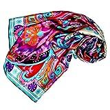 LORENZO CANA Foulard pour la femme – écharpe à la mode de 100% soie pour le...