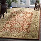 Safavieh Antiquities Collection AT249C Handmade Traditional Oriental Rust and Gold Wool Area Rug (6' x 9')