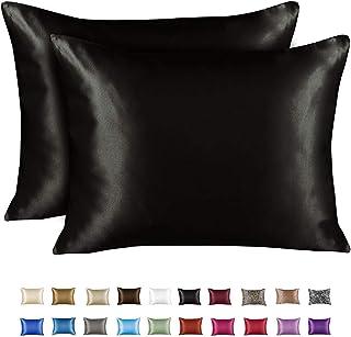 ShopBedding Luxury Satin Pillowcase for Hair – Standard Satin Pillowcase with Zipper,..