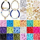4800 Pcs Flat Round Polymer Clay Spacer Beads for Jewelry Making Bracelets Necklace Earring DIY...