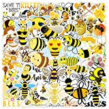TTBH Yellow Little Bee Stickers For Laptop Skateboard Guitar Stationery Stickers DIY Fridge Car Bottle Decals Kids Toys50Pcs