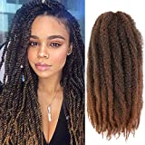 Wodun Marley Twist Hair Marley Hair for Twist Marley Twist Braid Hair Ombre Afro Kinky Braiding Hair 24 inches 6 Packs Maley Kinky Twist Hair for Braiding. (24 inch-6pacs, T 30)