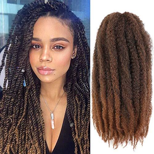 Wodun Marley Twist Hair Marley Hair for Twist Marley Twist Braid Hair Ombre Afro Kinky Braiding Hair 24 inches 6 Packs Maley Kinky Twist Hair for Braiding. (24 inch-6pacs, T 30)