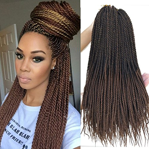 Flyteng 18 inch 8 Packs Senegalese Twist Crochet...