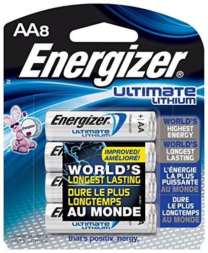 Energizer L91BP-8 Ultimate Lithium AA Batteries