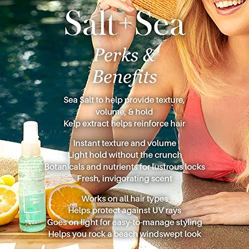 L'ange Hair Sea Salt Spray for Hair | Salt and Séa Hair Texturizing Spray to Help Improve Volume | Seasalt Texture Hairspray for Bouncy Beachy Waves & Windswept Look | Volumizing Hair Products 6