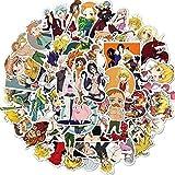 TTBH Pegatina de Anime, Pegatina de Dibujos Animados para monopatín, Motocicleta, álbum de Recortes, Juguete DIY, portátil, Snowboard, Equipaje 50 Uds