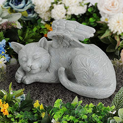 Giftchy Pet Memorial Stones for Cats, Angel Cat Bereavement Gifts,...