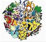 BLOUR Nouveau 45 pcs/Pack étanche Bande dessinée Autour de Pokemon...