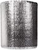 Premium Heat Reflective Insulation Roll (12' x 50') with Foam Core- Reflective Aluminum Insulation Roll with Foam for Walls, Attics, Air Ducts, Windows, Radiators. HVAC and Garages