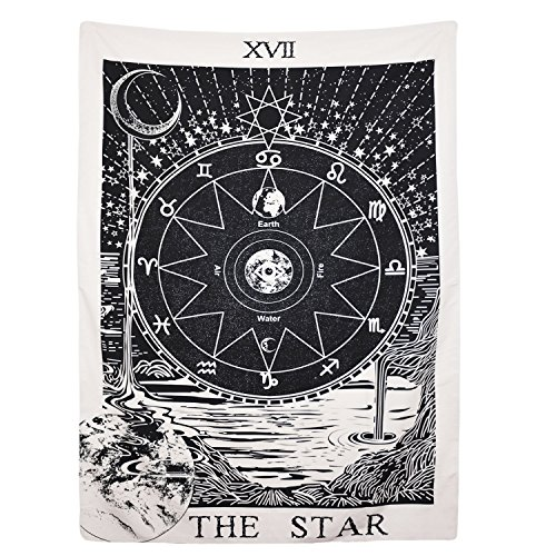 BLEUM CADE Tarot Tapestry The Moon The Star The Sun Tapestry...