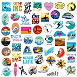 Outdoor Surfing Stickers and Decals 50pcs Summer Sports Stickers for Water Bottle Car Luggage Scrapbook Laptop Waterproof