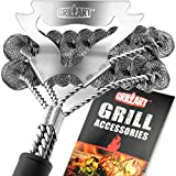 GRILLART Grill Brush Bristle Free & Scraper - Safe BBQ Brush for Grill - Non Wire Stainless Grill...