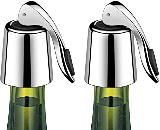 ERHIRY Wine Bottle Stopper Stainless Steel, Wine Bottle Plug with Silicone, Expanding..