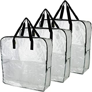 IKEA DIMPA 3 pcs Extra Large Storage Bag, Clear Heavy Duty Bags, Moth Moisture Protection..