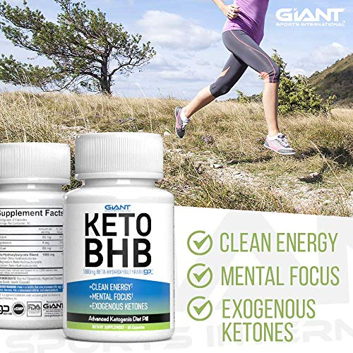 Giant Sports Keto Pills Clean Energy Weight Loss BHB Salt | Advanced Ketosis for Burning Fat and Ketones On The Ketogenic Diet | Natural Boost Perfect for Men Women, 60 Capsules 2