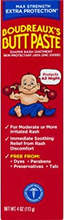 Boudreaux's Butt Paste Diaper Rash Ointment | Maximum Strength | 4 Ounce (Pack of 1)..