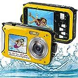Appareil Photo Etanche Numérique, Camera sous Marine Full HD 2.7K 48MP Camera Etanche avec Double...
