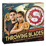 Toysmith Warrior's Mark Indoor/Outdoor Throwing Blades Game, Blade Throwing
