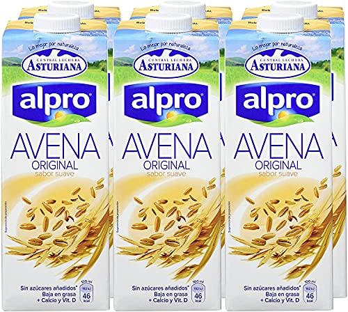 Central Lechera Asturiana Bebida de Avena - Paquete de 6 x 1000 ml - Total: 6000 ml