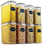 Wildone Lot de 8 récipients hermétiques pour céréales et aliments secs 2,5 L...