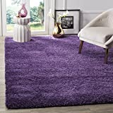 Safavieh Milan Shag Collection SG180-7373 2-inch Thick Area Rug, 3' x 5', Purple