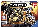 Ravensburger - 09258 - Puzzle Enfant Classique - Le Monde des Dragons - 3 x 49 Pièces