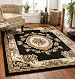 Well Woven Timeless Le Petit Palais Black Traditional Area Rug 7'10' X 10'6'